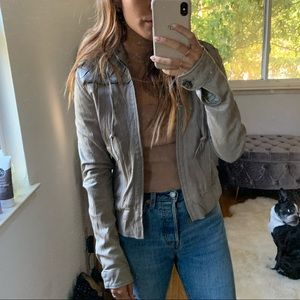 Grey Mike & Chris Leather Jacket